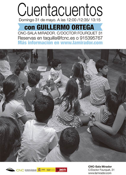 cartel cuentacuentos bn GUILLERMO