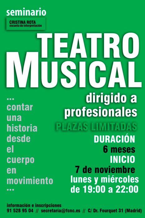 seminario teatro musical